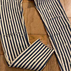 NWT Zara TRF pin striped pants. Stretch
